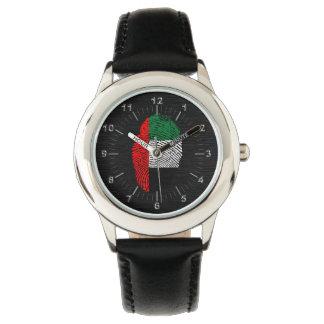 管轄区域のtouchの指紋の旗 腕時計