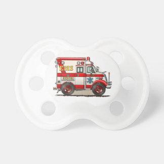 箱のトラックの救急車 おしゃぶり