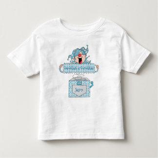 """箱のハヌカーの幼児の銀のワイシャツ""""Dreidel """" トドラーTシャツ"""