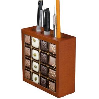 箱のハンドメイドの贅沢なチョコレート ペンスタンド