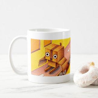 箱のフクロウ コーヒーマグカップ