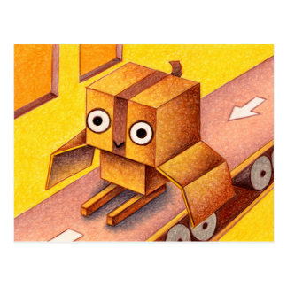 箱のフクロウ ポストカード