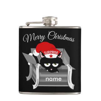 箱のメリークリスマスの猫 フラスク