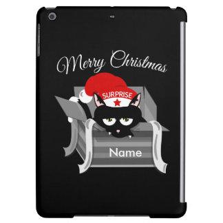 箱のメリークリスマスの猫 iPad AIRケース
