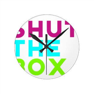 箱のロゴを締めて下さい ラウンド壁時計