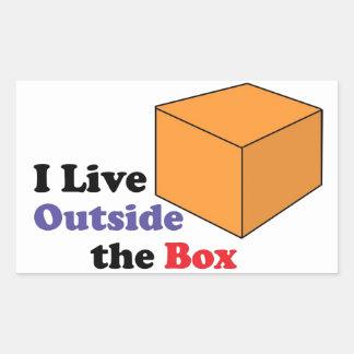 箱の外 長方形シール