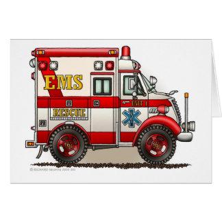 箱の救急車EMS EMTの緊急事態 カード