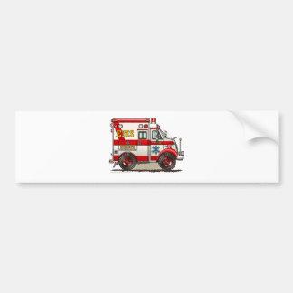 箱の救急車EMS EMTの緊急事態 バンパーステッカー