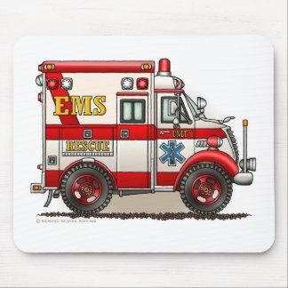 箱の救急車EMS EMTの緊急事態 マウスパッド