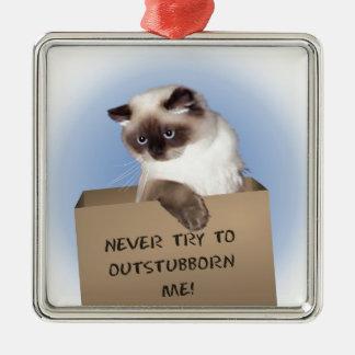 箱の猫 メタルオーナメント