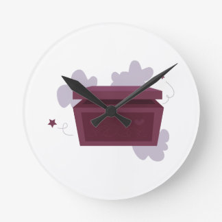 箱を開けて下さい ラウンド壁時計