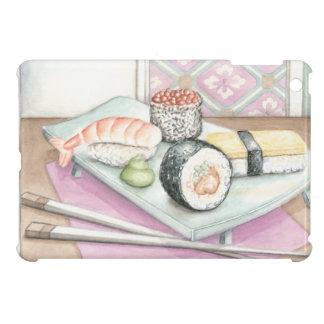 箸が付いている分類された寿司のプレート iPad MINIケース