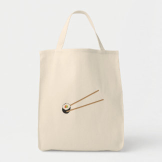 箸が付いている寿司ロール トートバッグ