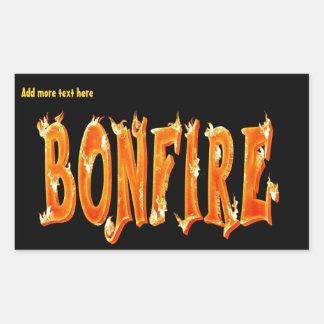 篝火の火の文字 長方形シール
