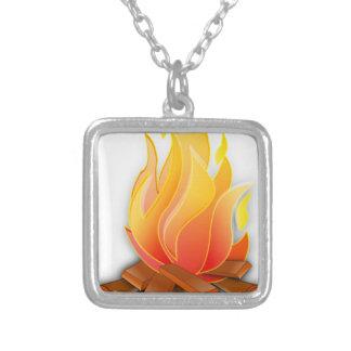 篝火 シルバープレートネックレス