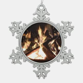 篝火 スノーフレークピューターオーナメント