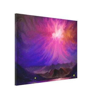 篝火|日没|-|デジタル|芸術|キャンバス|18x24 ギャラリー張りキャンバス
