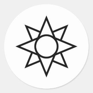 簡単Ishtarの星の記号 ラウンドシール