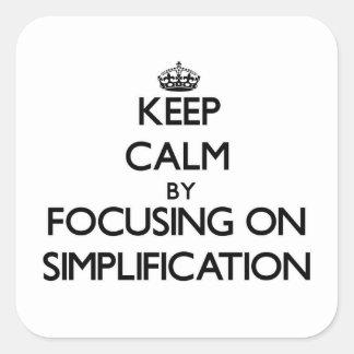 簡素化に焦点を合わせることによって平静を保って下さい スクエアシール