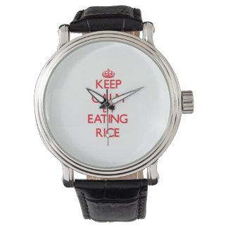 米を食べることによって平静を保って下さい 腕時計