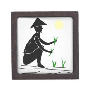 米分野で働いている農家 ギフトボックス