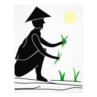 米分野で働いている農家 レターヘッド