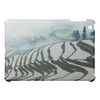 米分野の上の朝の霧 iPad MINI カバー