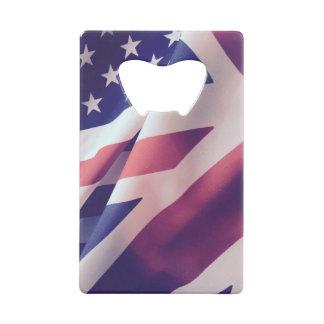 米国およびイギリスの旗 クレジットカード栓抜き