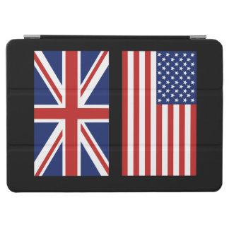 米国およびイギリスの旗 iPad AIR カバー