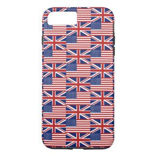 米国およびイギリスの旗 iPhone 8 PLUS/7 PLUSケース