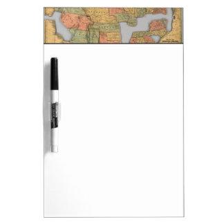米国およびカナダの地図 ホワイトボード