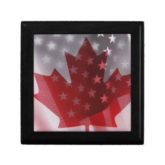 米国およびカナダの旗のギフト用の箱 ギフトボックス