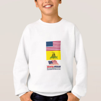 米国およびガズデンの旗: アメリカアメリカの動き スウェットシャツ