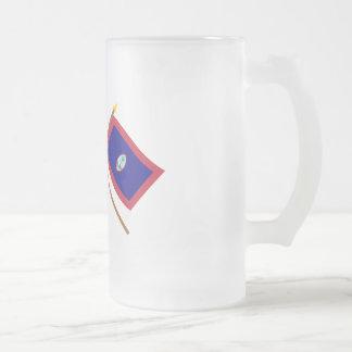 米国およびグアムによって交差させる旗 フロストグラスビールジョッキ