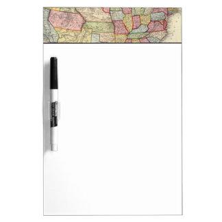 米国および領域の地図 ホワイトボード