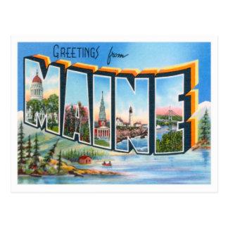 米国からのメインの挨拶 ポストカード