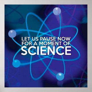 米国が科学のちょっとの間今休止するようにして下さい ポスター
