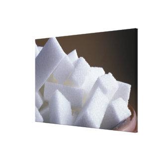 米国だけの使用のための白砂糖の立方体。) キャンバスプリント