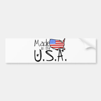 米国で作られる バンパーステッカー