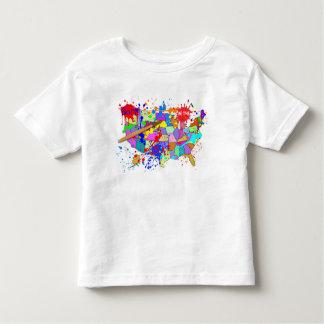 米国で生まれて下さい! 新しいペンキの版 トドラーTシャツ