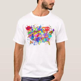 米国で生まれて下さい! 新しいペンキの版 Tシャツ