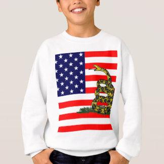米国で踏まないで下さい スウェットシャツ