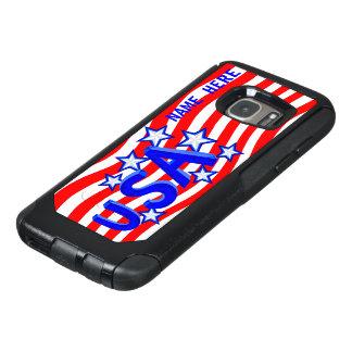 米国のアメリカのプライドの青い銀はGalaxyS7を主演します オッターボックスSamsung Galaxy S7ケース