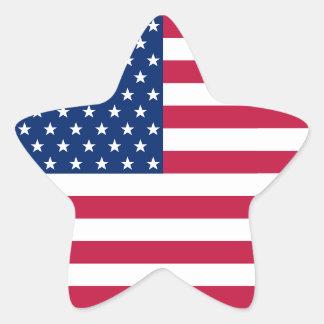 米国のアメリカの愛国心が強い星のストライプな旗のステッカー 星シール