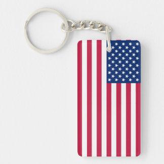 米国のアメリカの愛国心が強い星のストライプな旗Keychain キーホルダー