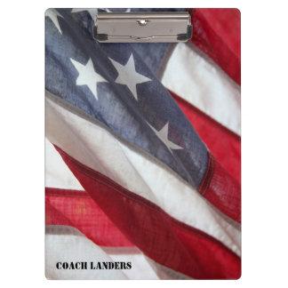 米国のクリップボードの旗 クリップボード