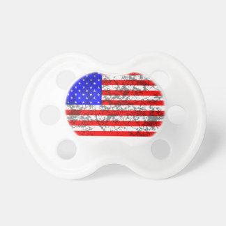 米国のグランジな旗 おしゃぶり