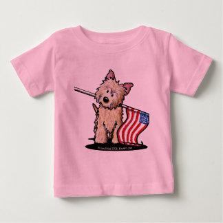 米国のケルン犬の乳児のTシャツ ベビーTシャツ
