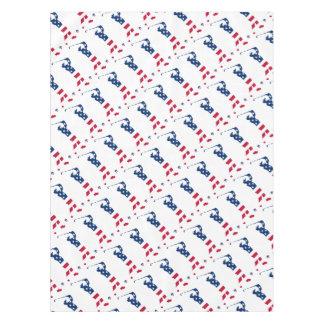 米国のゴルフアメリカの旗のゴルファー テーブルクロス