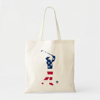 米国のゴルフアメリカの旗のゴルファー トートバッグ